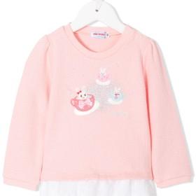 Miki House エンブロイダリーセーター - ピンク