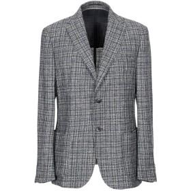 《セール開催中》ZZEGNA メンズ テーラードジャケット ブルー 52 ウール 36% / コットン 36% / アセテート 18% / ナイロン 10%