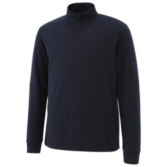 MIZUNO SHOP [ミズノ公式オンラインショップ] ブレスサーモミニボーダーハイネックシャツ[メンズ] 14 ドレスネイビー A2JA6539