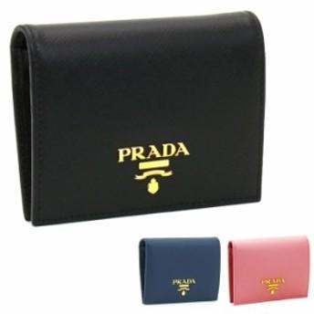 プラダ PRADA 二つ折り財布 1MV204 SAFFIANO METAL ORO