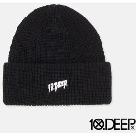 【10DEEP/テンディープ】SOUNDS AND FURY BEANIE ニット帽 / BLACK