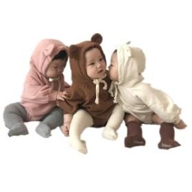 5198c62202e0e 韓国子供服 ベビー 冬服 ロンパース パーカー カバーオール ジャンプスーツ 通園 男女共用 ベビー 新生児
