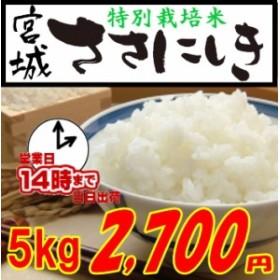宮城ささにしき 特別栽培米 5kg(宮城県登米市限定) 白米・玄米・3分搗き・7分搗き選択可能