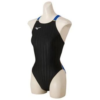 MIZUNO SHOP [ミズノ公式オンラインショップ] 競泳用ミディアムカット[ジュニア] 92 ブラック×ブルー N2MA8426