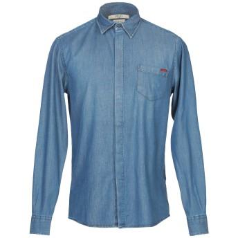 《期間限定セール開催中!》LIU JO MAN メンズ デニムシャツ ブルー M テンセル 55% / コットン 43% / ポリウレタン 2%