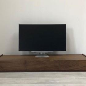 スラッシュ 150cm テレビボード ウォールナット ブラックチェリー オーク 無垢 テレビ台