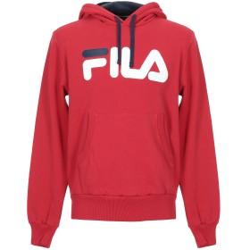 《セール開催中》FILA メンズ スウェットシャツ レッド M コットン 100%