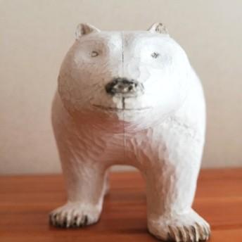 【creema 限定】しろくま 木彫の置物