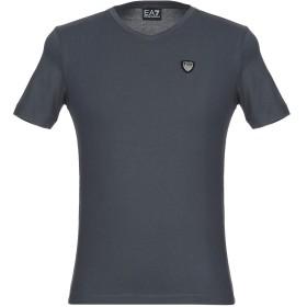 《セール開催中》EA7 メンズ T シャツ スチールグレー XXS コットン 96% / ポリウレタン 4% TRAIN CORE SHIELD M TEE VN ST