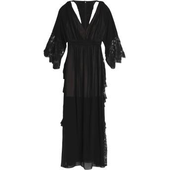《セール開催中》BADGLEY MISCHKA レディース ロングワンピース&ドレス ブラック 0 ナイロン 100%