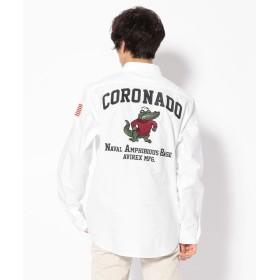 アヴィレックス OXレギュラーシャツ コロナド/OXFORD REGULER SHIRT CORONADO メンズ OFF/WHITE XL 【AVIREX】