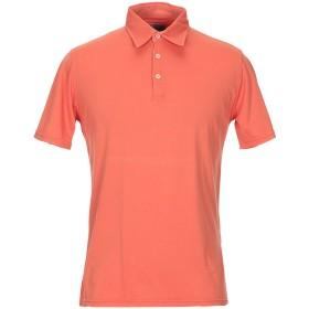 《期間限定セール開催中!》FEDELI メンズ ポロシャツ オレンジ 48 コットン 100%