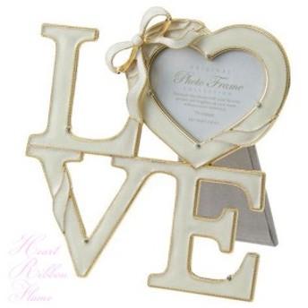 【定形外送料無料】 A.P.J. ハートリボンフレーム LOVE 910170 FC102437 写真立て 結婚祝い ラブ ギフト プレゼント インテリア アートプ
