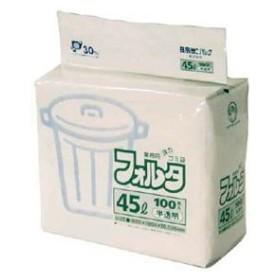 日本サニパック F-4H環優包装フォルタ45L白半透明 F4HHCL 返品種別A