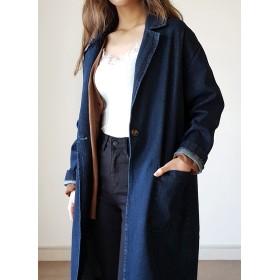 シングルロングデニムジャケット・全2色・b49164