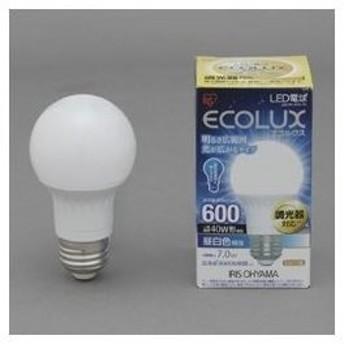 アイリスオーヤマ LED電球 7.0W 広配光/調光 昼白色相当(600lm)