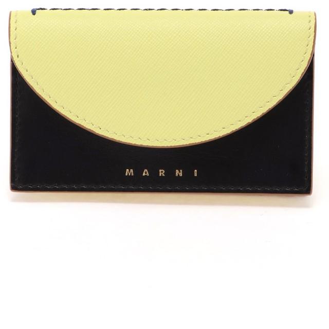 MARNI 【限定】LAW バイカラー カードケース カードケース,バニラ