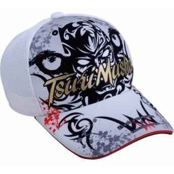 釣武者(TsuriMusha) 上物 釣り 帽子 W eyeキャップ ホワイト 524917 【日よけ UV アクセサリ フィッシング】