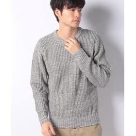 【69%OFF】 マルカワ セーター 畦 編み クルーネック メンズ ミディアムグレー XL 【MARUKAWA】 【タイムセール開催中】