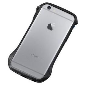 ディーフ iPhone 6s/ 6用ハイブリッド バンパー(カーボン&ブラック) Deff CLEAVE Hybrid Bumper for iPhone6 DCB-IP6A6CABK 返品種別A