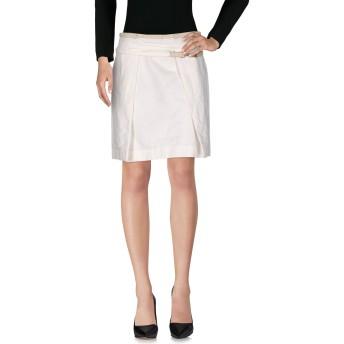 《セール開催中》BRUNELLO CUCINELLI レディース ひざ丈スカート ホワイト 42 麻 52% / コットン 48%