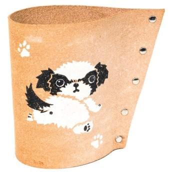 シーズー ペン立て コーヒーフィルターホルダー 小物入れ カトラリースタンド メガネスタンド 犬 雑貨