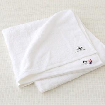 ロハコ限定オリジナルタオルLOHACO Basic towel バスタオル ピュアホワイト 約65×130cm 1枚 今治タオル