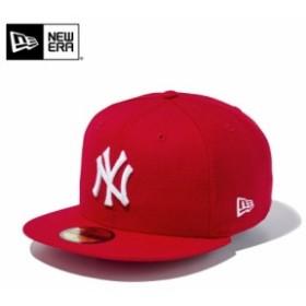 【メーカー取次】 NEW ERA ニューエラ 59FIFTY MLB ニューヨーク・ヤンキース スカーレットXホワイト 11308546 キャップ