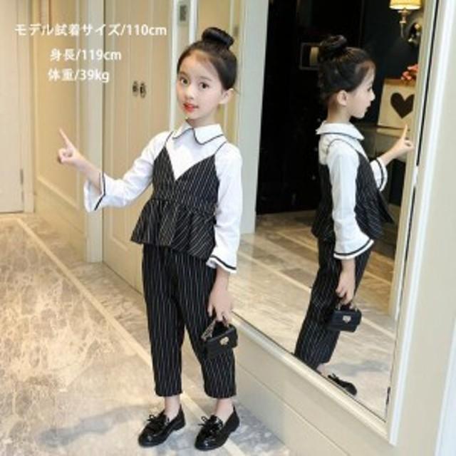 2a8ab78dd7749 韓国こども服 トップスとパンツ 上下セット 長袖 セットアップ 女の子フォーマルセット 2点セット
