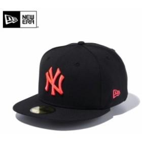 【メーカー取次】 NEW ERA ニューエラ 59FIFTY MLB ニューヨーク・ヤンキース ブラックXサンセットオレンジ 11308573 キャップ