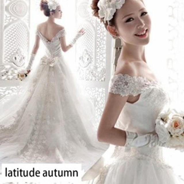 eb780904a7fe1 高級 ウェディングドレス 結婚式 花嫁ドレス スレンダーライン 超豪華なトレーンドレス トレーン オフ