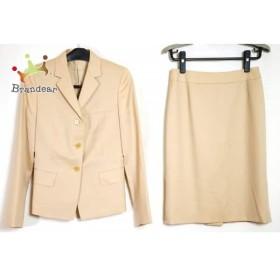 b4a8ac0938fd34 アンタイトル UNTITLED スカートスーツ レディース 新品同様 ライトベージュ 肩パッド/ON CLOSET スペシャル