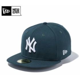【メーカー取次】 NEW ERA ニューエラ 59FIFTY MLB ニューヨーク・ヤンキース ダークグリーンXホワイト 11308554 キャップ