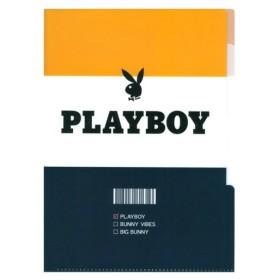 PLAYBOY<プレイボーイ> 5インデックス クリアファイル ボーダー A4 63186 [M便 1/1]
