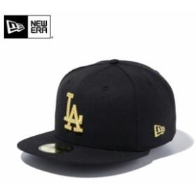 【メーカー取次】 NEW ERA ニューエラ 59FIFTY MLB ロサンゼルス・ドジャース ブラックXゴールド 11308632 キャップ