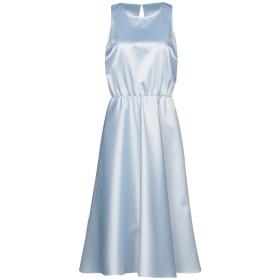《セール開催中》PATRIZIA PEPE レディース 7分丈ワンピース・ドレス スカイブルー 46 ポリエステル 97% / ポリウレタン 3%