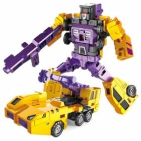 【送料無料!】変身合体 ロボット カー 重機タイプ 小型版 全6車種 変形 ミニカー 子供 おもちゃ 6車合体可能 キッズ ギフト プレゼント