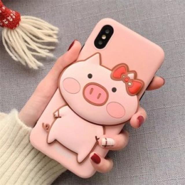 0cb68ce010 iPhone Xs Max iPhone8 Plus iPhone7 iPhone6s iPhoneX カバー アイフォン7 プラス ケース シリコン  可愛い 豚