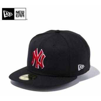 【メーカー取次】 NEW ERA ニューエラ 59FIFTY MLB ニューヨーク・ヤンキース ブラックXレッド ホワイトアウトライン 11308567 キャップ