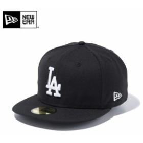 【メーカー取次】 NEW ERA ニューエラ 59FIFTY MLB ロサンゼルス・ドジャース ブラックXホワイト 11308624 キャップ