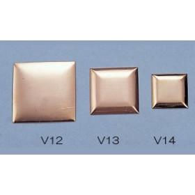 [ ゆうパケット可 ]  銅板 丹銅板 角型 V-14 21x21mm 【 工芸 ガラス 七宝焼 七宝 】