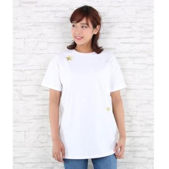 [マルイ]【セール】【大きいサイズ】スター刺繍ロングTシャツ/サブストリート(大きいサイズ)(sab street my standard)