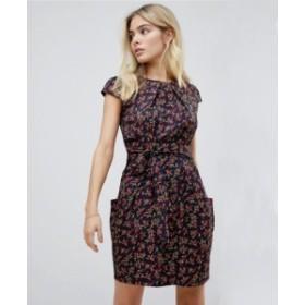 エイソス ASOS フローラル チューリップ ワンピース ドレス 花柄 レディース フレア  パンツ レギンス スカーチョ ファッション 可愛い