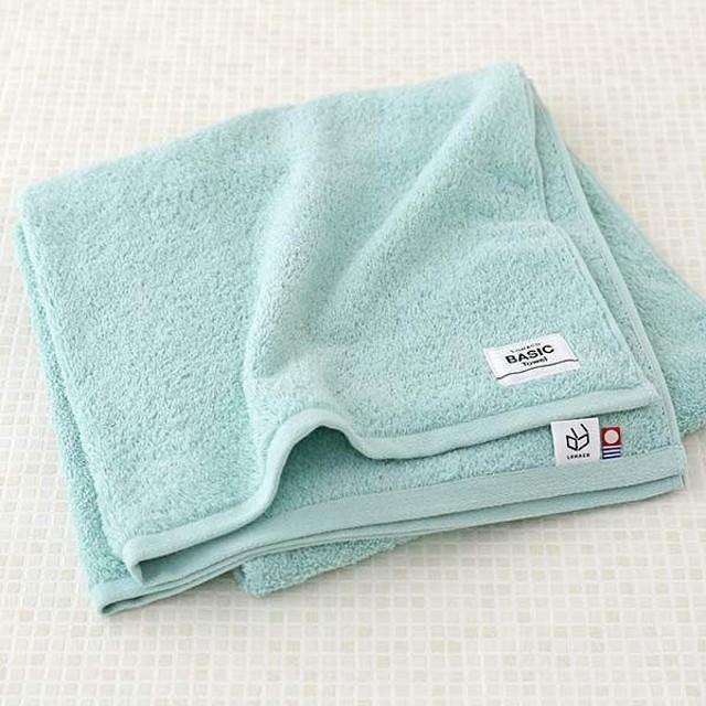 ロハコ限定オリジナルタオルLOHACO Basic towel バスタオル エメラルドオーシャン 約65×130cm 1枚 今治タオル