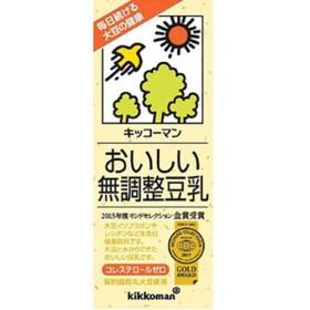 キッコーマン おいしい無調整豆乳 (200mL18本入)