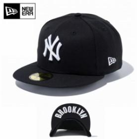 【メーカー取次】 NEW ERA ニューエラ 59FIFTY UNDERVISOR ニューヨーク・ヤンキース ブラック×ホワイト BROOKLYN 11308541 キャップ