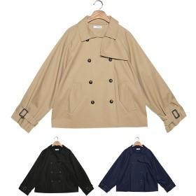 ロングコート - ONNY SHOP 【MERONGSHOP メロンショップ】ダブルボタンショートトレンチコート[MADE.M] P000BRXH 韓国 ファッション