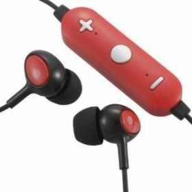 オーム電機 HP-WBT150Z-R AudioComm Bluetoothスマホ用コントローラー付 ワイヤレス ステレオイヤホン(レッド) (HPWBT150ZR)