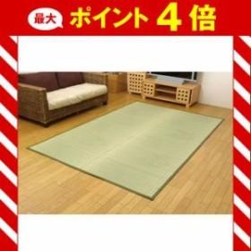 純国産 イ草花ござカーペット 『扇』 江戸間3畳(約174×261cm) [13]