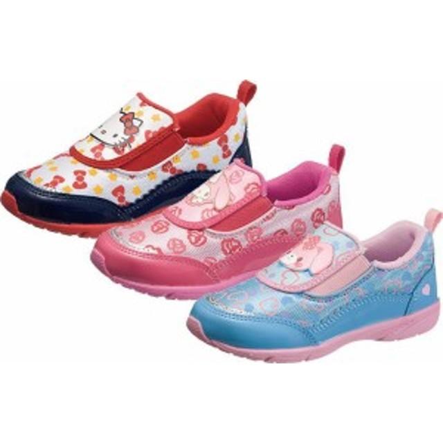 (A倉庫)アサヒ サンリオ P066 S/R P066 キャラクターシューズ 子供靴 スニーカー スリッポン ハローキティ マイメロディ ボンボンリボン